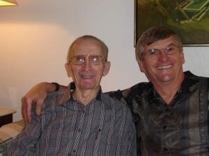 My wonderful brother Don, and our dad in June 2005, a year after dad's Alzheimer's diagnosis.