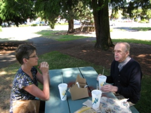 My Dad and I on a picnic, Spring 2005.