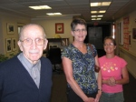 Dad, me (unpaid caregiver) and Jenny (paid caregiver) 2006