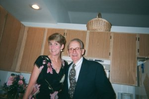 My dad and I, five years before I became his caregiver; 13 years before he died from Alzheimer's.