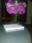Lilacs & Azaleas gracing my finished manuscript