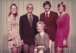 My family in the 70s. I no longer have the red dress I'm wearing, but I do have those earrings my mom is wearing.