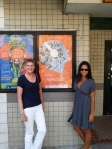 My daughter & I outside the Varsity Theatre, Seattle, after viewing the documentary.
