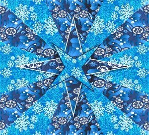 Blue holiday star