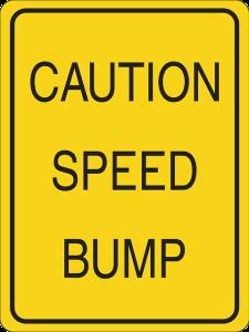 Caution Speed Bump