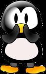 Shy penquin
