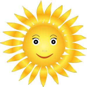 Happy sunshine face