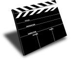 Movie director clapboard