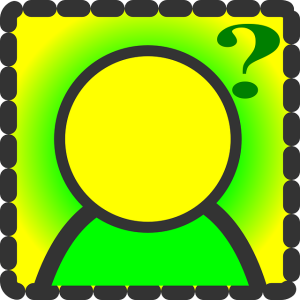 Person with question mark