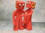 Caring gumby figures