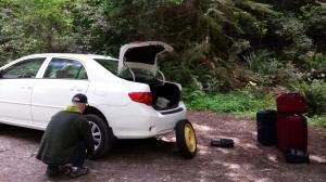 Jerry is an expert tire changer